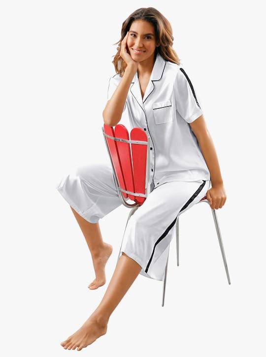 wäschepur Pyjama - weiß-schwarz