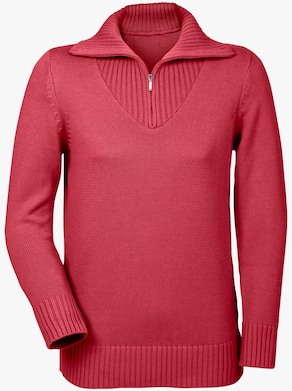 Collection L Pullover - korallenrot