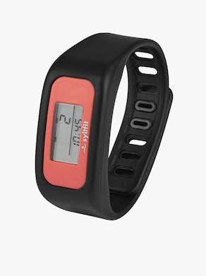 Fitnes hodinky - čierno-koralová