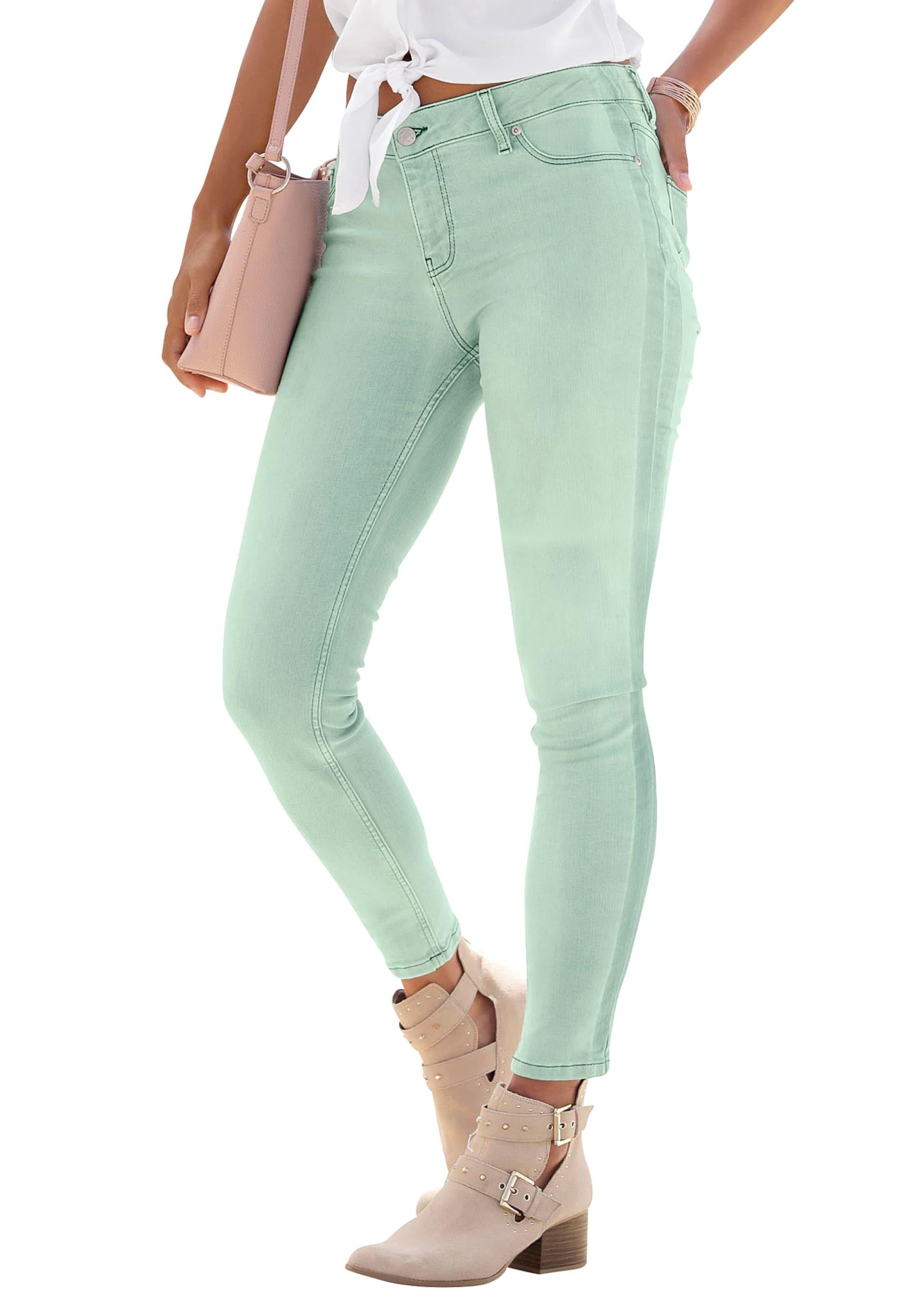 buffalo - Witt Weiden Damen Skinny-fit-Jeans mint-washed