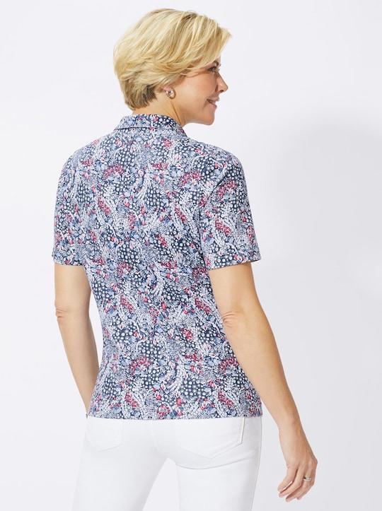 Shirt - himbeer-gemustert