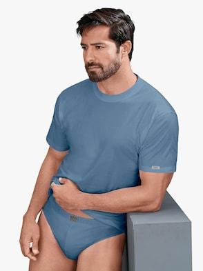 Shirt - marine + stahlblau