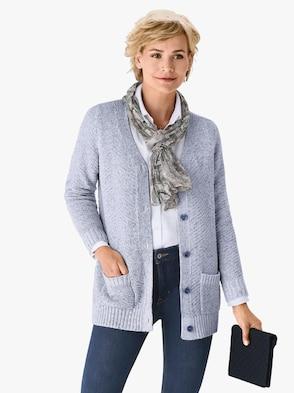 Vest - jeansblauw gemêleerd