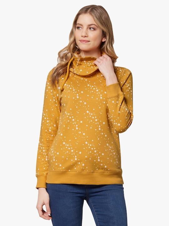 Sweatshirt - ocker-ecru-bedruckt