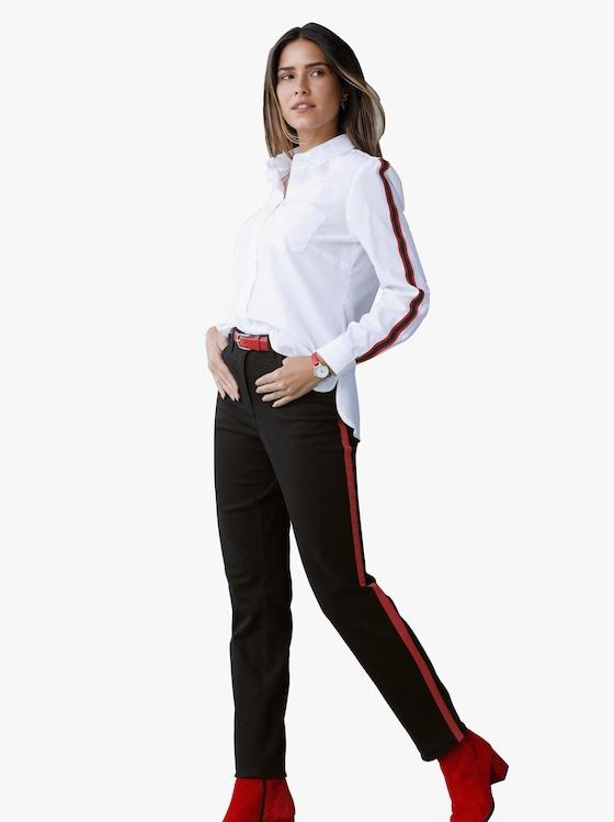 Jeans - schwarz-rot