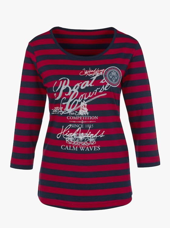 Shirt - marine-rot-geringelt