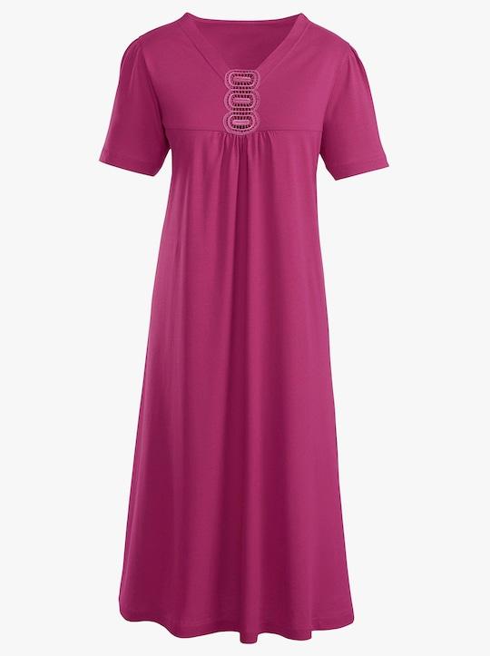 Ascafa Nachthemd - himbeerrot