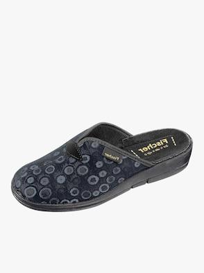 Pantoffel - grau-blau