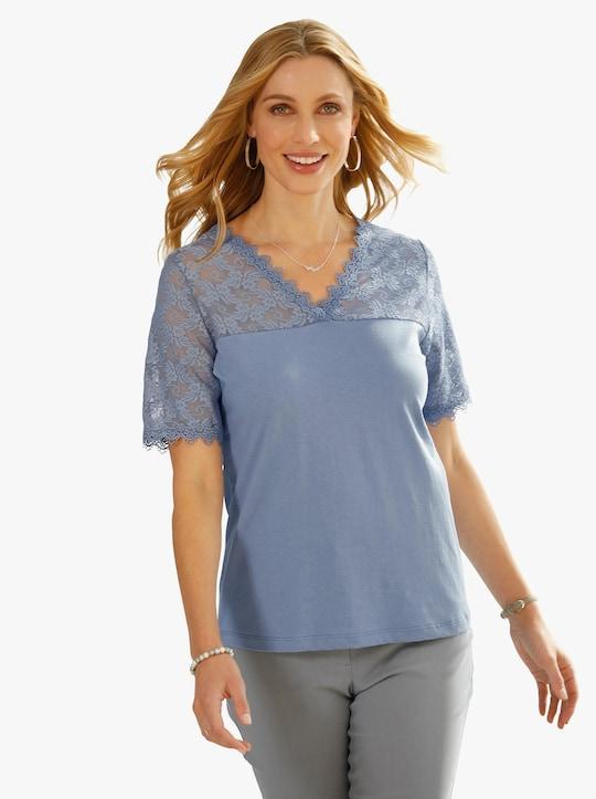 Shirt - duivenblauw