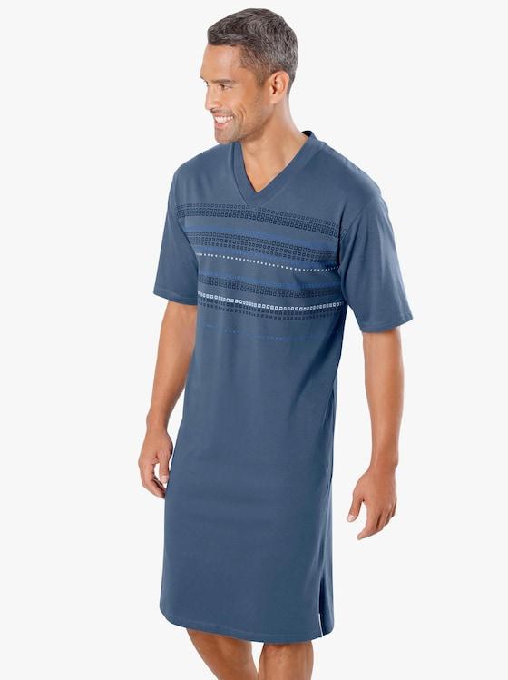 Top Ten Nachthemd - blau-bedruckt