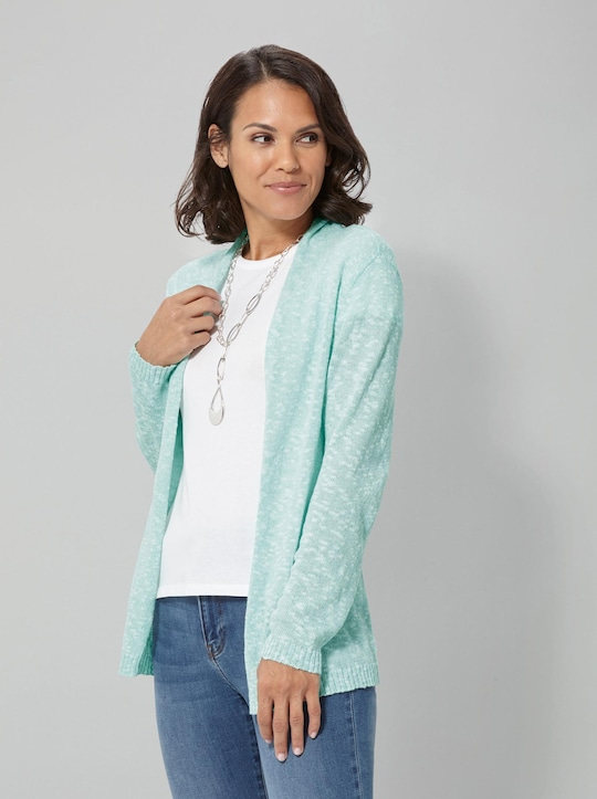 Collection L Strickjacke - mint-meliert