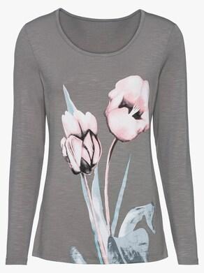 Shirt - grau-gemustert