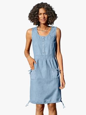 Šaty - bielená modrá