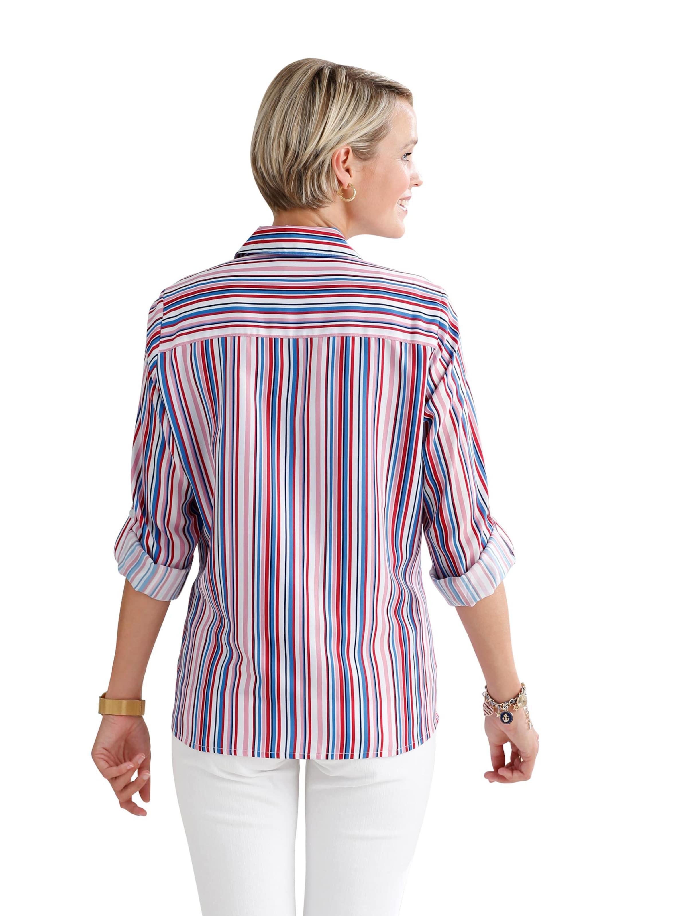 Damen Bluse weiß-gestreift
