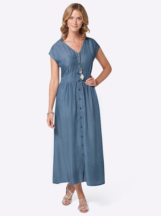Kleid - jeansblau