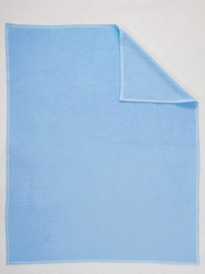 Biederlack katoenen deken - blauw