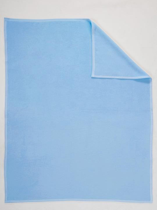Biederlack Baumwolldecke - blau