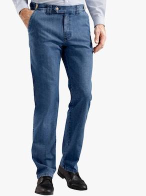Autofahrer-Jeans - blue-stone-washed
