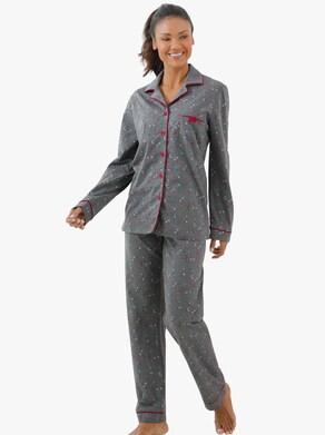 Pyjama - grijs/gemêleerd gedessineerd