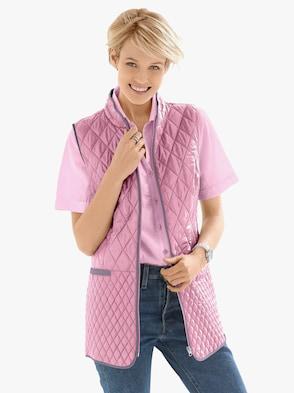 Prošívaná vesta - růžová
