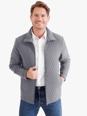 Fleece-Jacke - grau