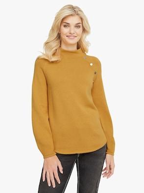 Pullover - goldgelb