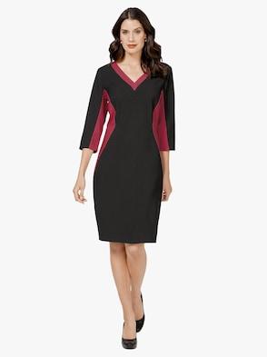 Kleid - rot-schwarz