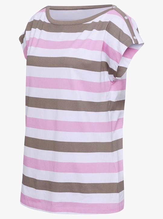 Shirt - roze/taupe gestreept