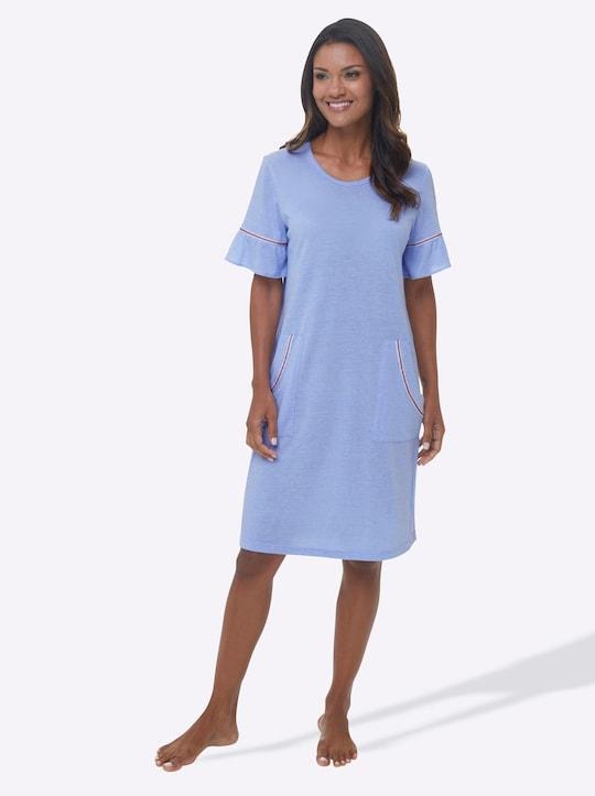 wäschepur Sleepshirt - hellblau-meliert