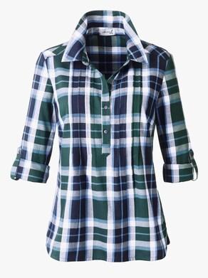 Geruite blouse - groen geruit