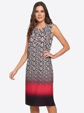 Fair Lady Jersey-Kleid - rot-bedruckt