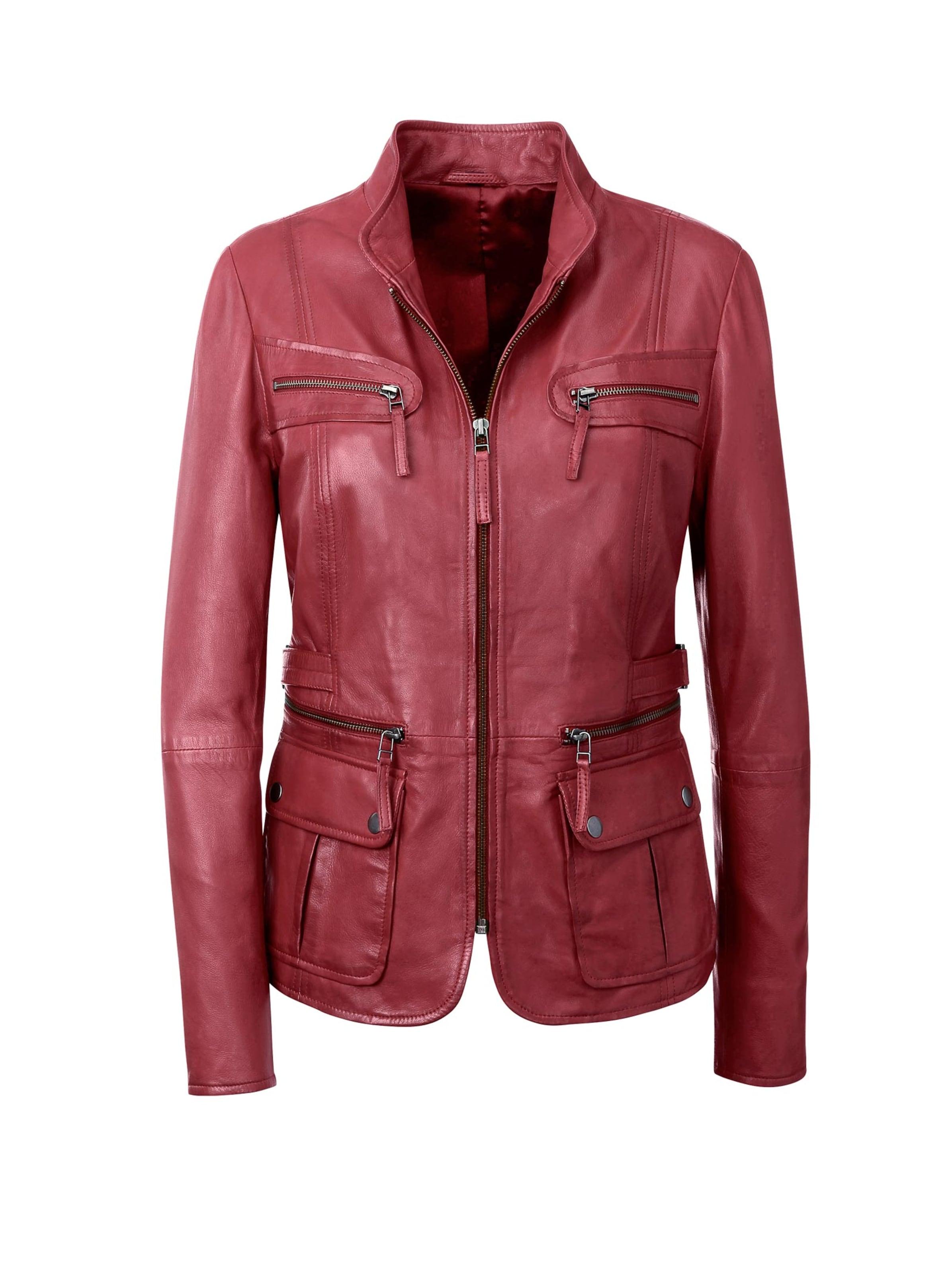 witt weiden - Damen Leder-Jacke rot