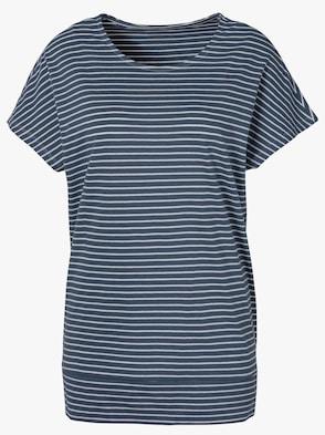 Tričko pro volný čas - kouřová modrá-proužek