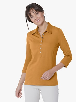 Pima-Baumwoll-Shirt - curry