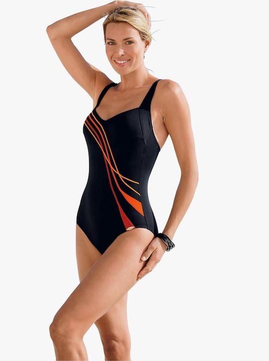 Sunflair Badeanzug - schwarz-orange