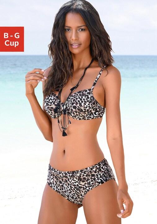 LASCANA Bügel-Bikini - braun-bedruckt