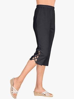 Capri kalhoty pro volný čas - černá