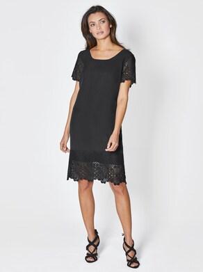 Lyocell-Kleid - schwarz