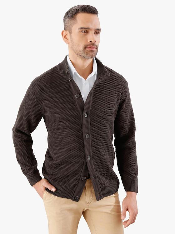 Pletený kabátek - hnědá