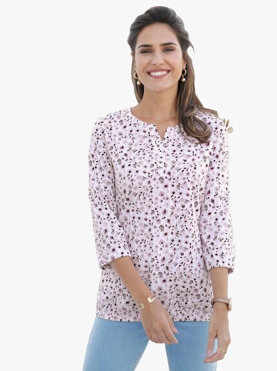 Shirt - mauve-bedruckt