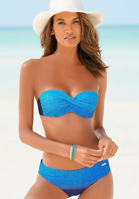 LASCANA Bügel-Bandeau-Bikini - blau