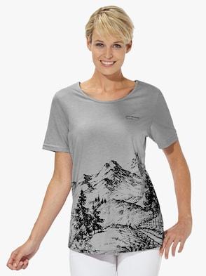 Tričko pro volný čas - šedá-melír