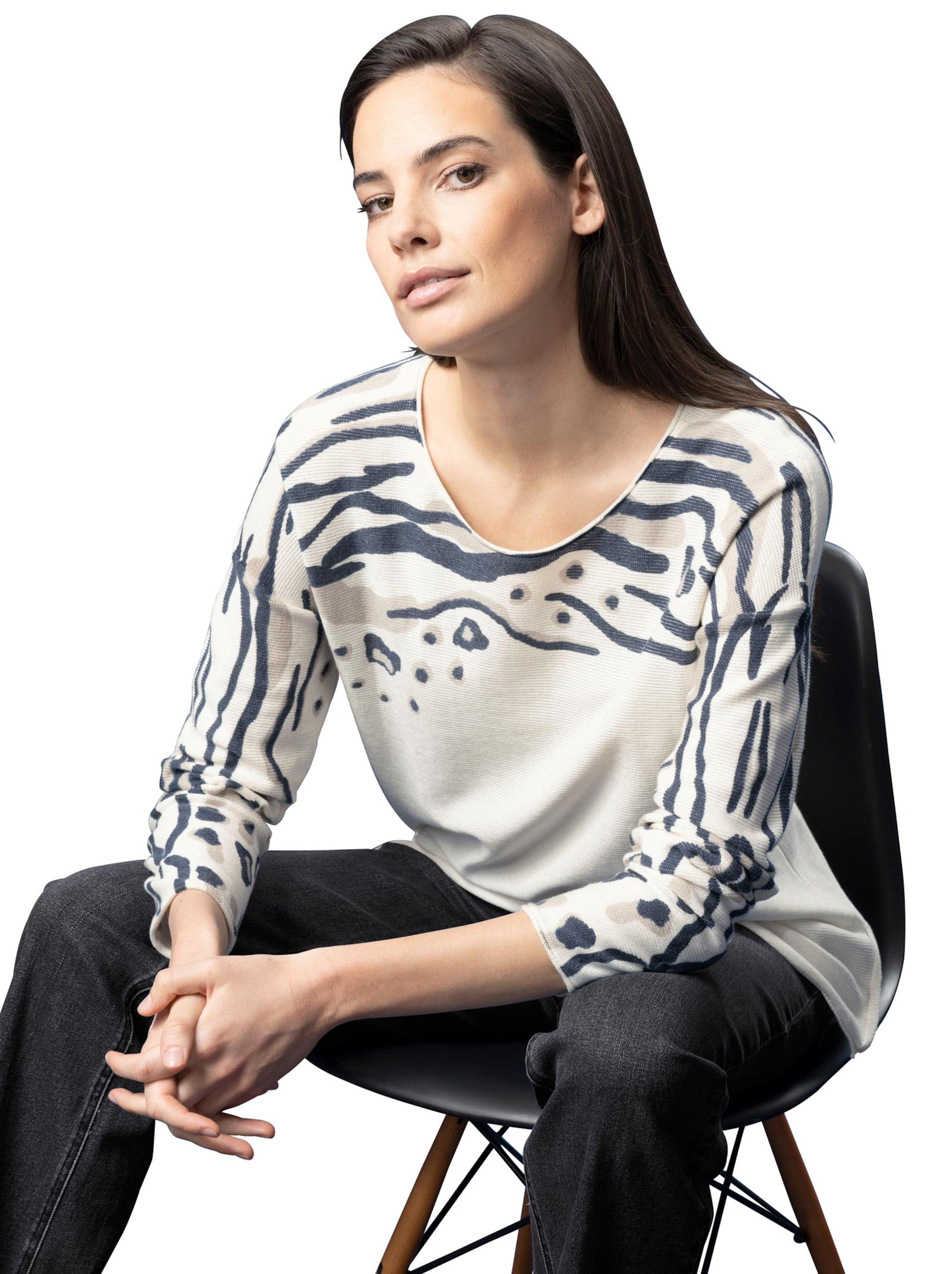 witt weiden - Damen Druck-Pullover bunt