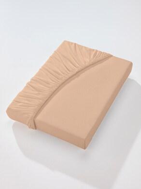wäschepur Spannbetttuch - beige
