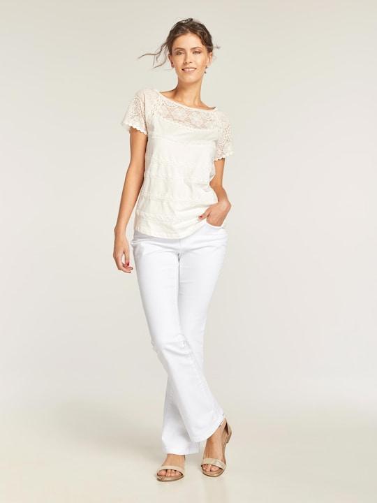 Linea Tesini Bauchweg-Jeans - weiß