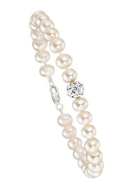 Firetti Armband - zilverkleur/wit
