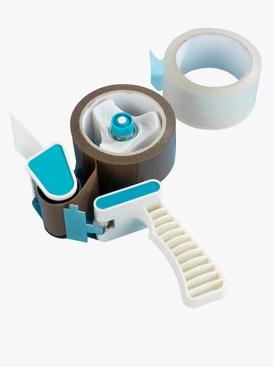 Packbandabroller - weiß-blau