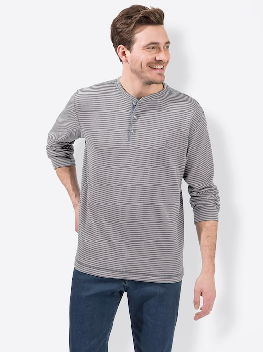 Catamaran Langarm-Shirt - grau-gestreift
