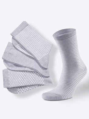 wäschepur Damen-Socken - grau-meliert