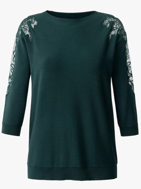 Fair Lady Pullover - dunkelgrün